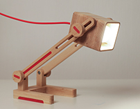 Table wood lamp