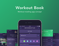 Workout Book – workout tracking app concept