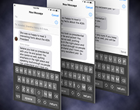 iOS SMS keyboard