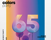 Colors Party - Free PSD Flyer Poster Template