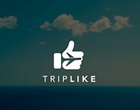 TripLike Logo design