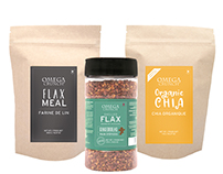Omega Crunch Label Design & Marketing Materials