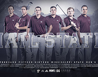 Mississippi State Golf Posters