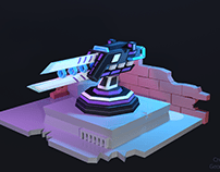 Low-Poly SwordGun 1-LvL