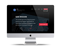NASA GEDI Mission Website Design Concept