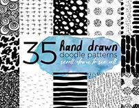Hand Drawn Patterns Set