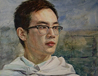 Watercolor portrait_Zi Ling_2017