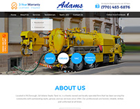 Truck Transport Website Template Design By Nexstair