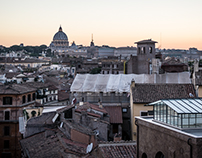 A summer sunset in Rome