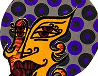 Linoleum Print: Freakshow Series