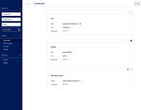 Web app interface