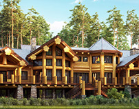 Log house private residence