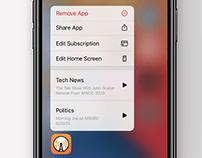 iOS Subscription Management Concept