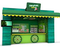 3D Shop Modelling for 7up