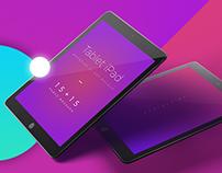 Tablet iPad Branding UI App Mockups