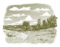 Woodcut Goodnight Farm