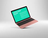 MacBook Air Rose Gold Mockup