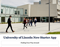 UI/UX Design, University of Lincoln New Starter App