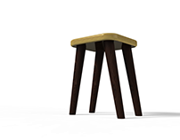 WOOD-E. The Modular Stool.