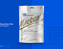 Mock-up Glossy Doy-Pack With Zipper