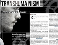 Transhumanism magazine article design