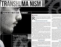 Transhumanism magazine article design