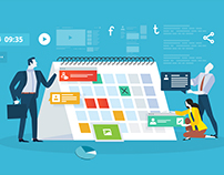 Flat design business people concepts