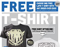 Free T-Shirt E-mail Ads