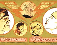 FRANKENSTEIN/THE BRIDE OF FRANKENSTEIN poster diptych