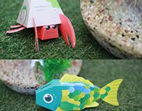 Sea Friends Papertoy