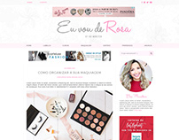 Layout - Blog Eu Vou de Rosa | Bia Munstein