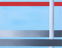 Lightblue and Red series (oil paintings)