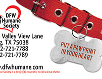 DFW Humane Society Business Card