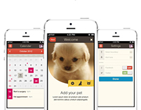 Pet application / tablet + mobile