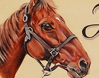 Personalized Horse Portrait Paintings