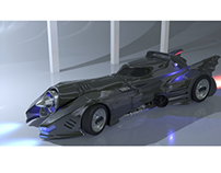Batmobile (1989) Model and Render