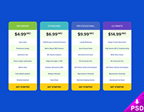 Pricing Table Mockup