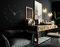 Black study room