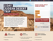 Israel Experience Landing Pages