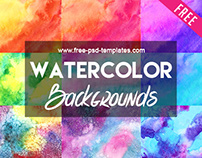 FREE Watercolor Backgrounds Bundle IN PSD