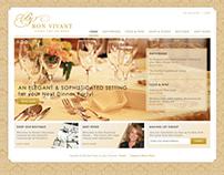 Bon Vivant - web design