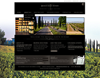 Broken Earth winery - web design