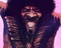 Hendrix Caricature