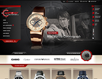 Chrono watch company - web design