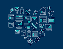 Broadband Love / Digital Love Icons