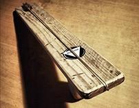Old school wooden slingshot