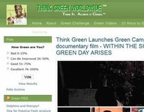 Think Green Worldwide Blog Event PR Website(WordPress)