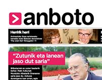 Anboto Newspaper: Redesign.