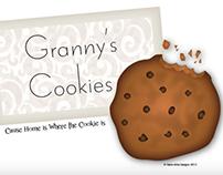 Granny's Cookies- A logo & Slogan Project