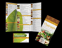 Thairoom Takeout Menu and Business Card
